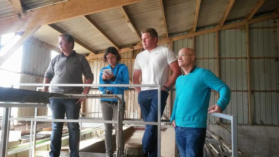 Visite de l'installation de réception/calibrage de semence de pomme de terre et alliacées de Damien Lenan à Plougar